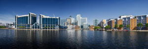 Business properties on Canary wharf